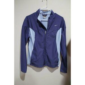 Nike Purple Girls Large (14-16) Zip Sweatshirt
